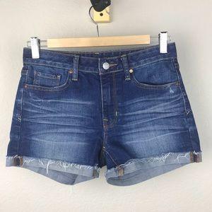 Gap Slim Cutoffs Cotton Blue Denim Jean Shorts